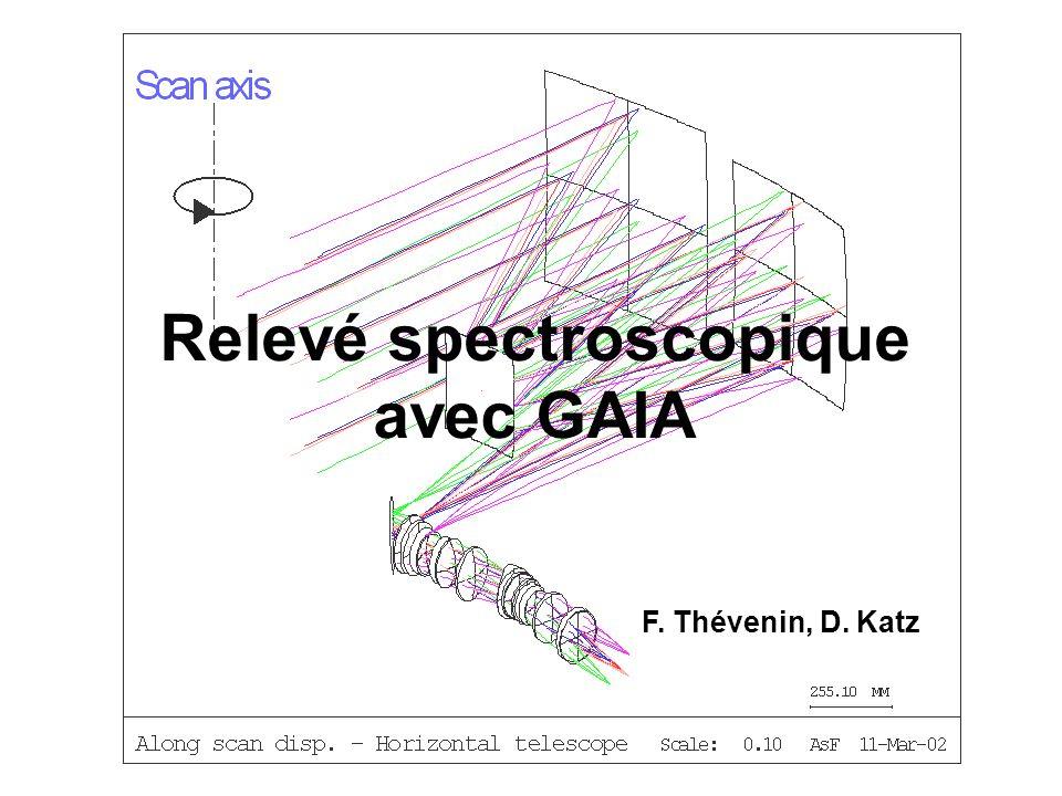 Relevé spectroscopique avec GAIA F. Thévenin, D. Katz