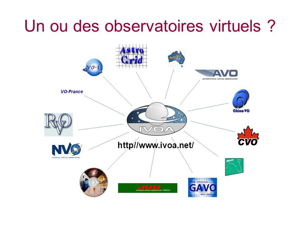 Un ou des observatoires virtuels http//www.ivoa.net/