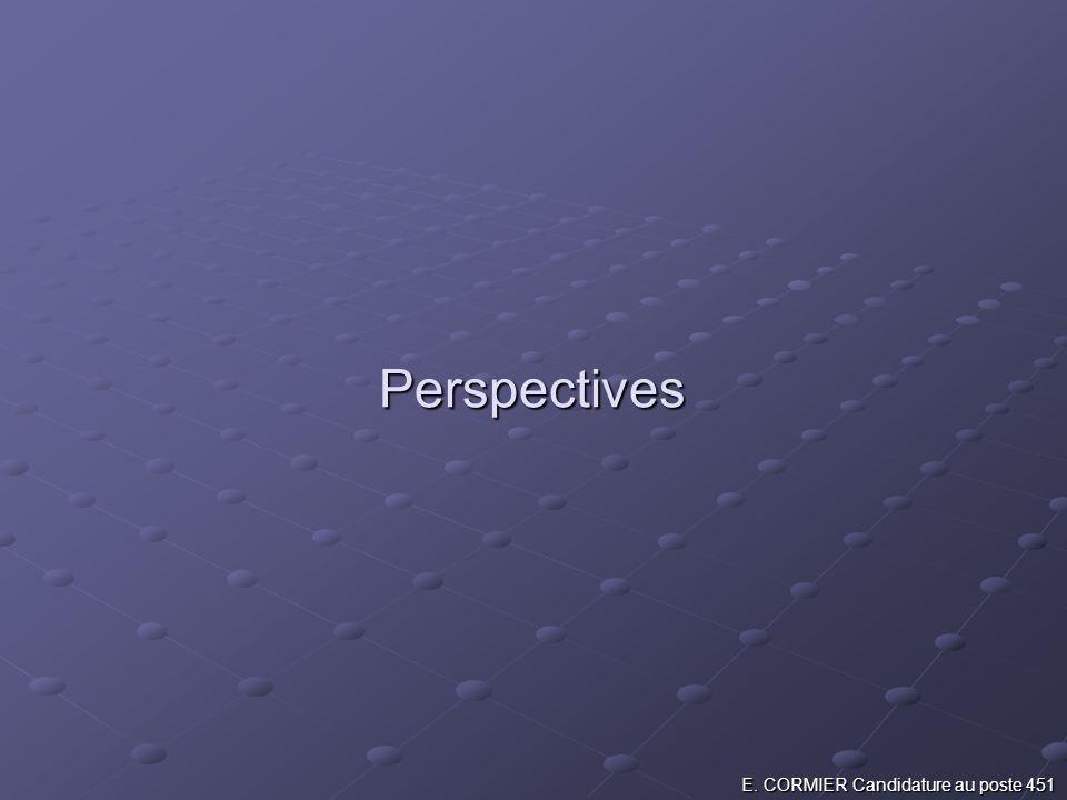 Perspectives E. CORMIER Candidature au poste 451
