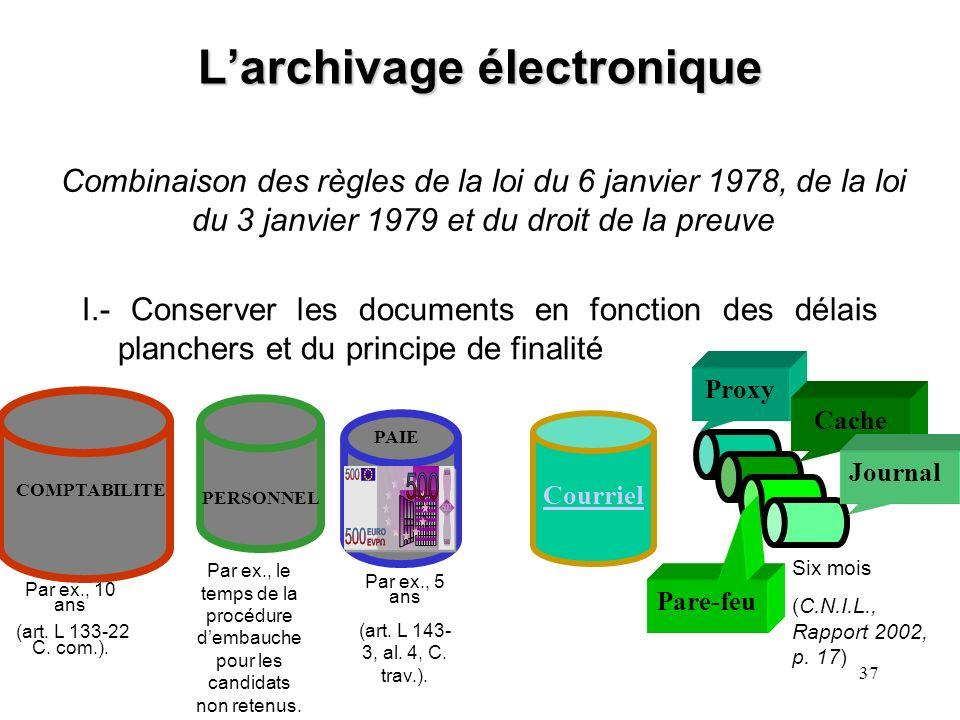 36 La notion darchive « les archives sont l'ensemble des documents, quels que soient leur date, leur forme et leur support matériel, produits ou reçus