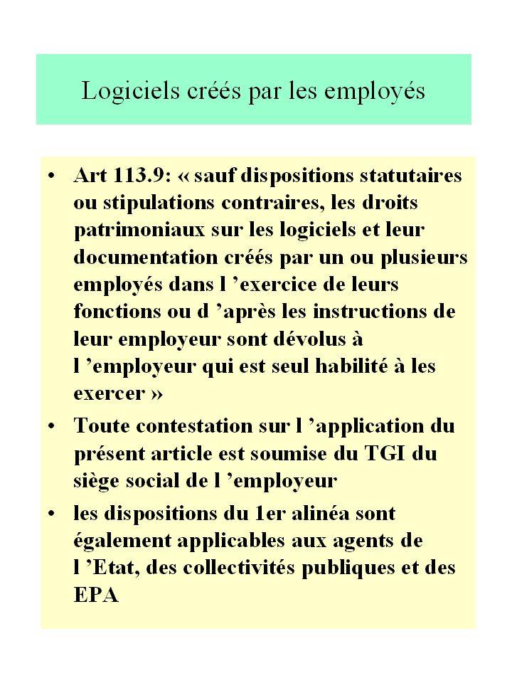 La CNIS:le bilan Depuis1980: 10 à 12 affaires /an Procédure gratuite 80 à 90 % des propositions acceptées « Rémunération supplémentaire » en moyenne 2 à 3 mois de salaire soit 40 à 50 KF « juste prix » de 50 à 700 KF commission de conciliation ou 1er degré de juridiction (conseil ou avocat) ?