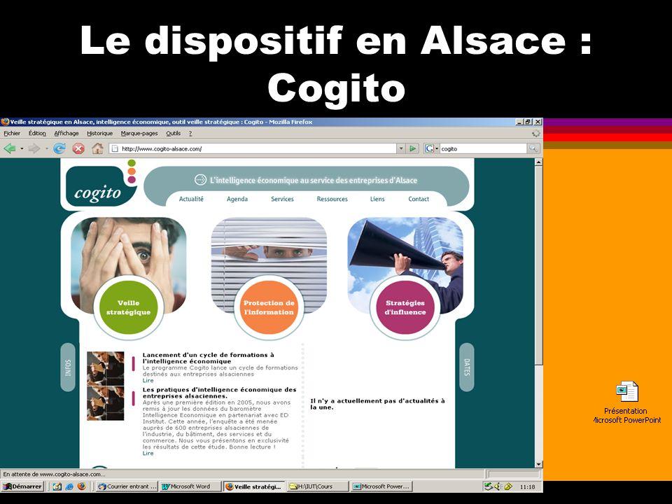 Le dispositif en Alsace : Cogito