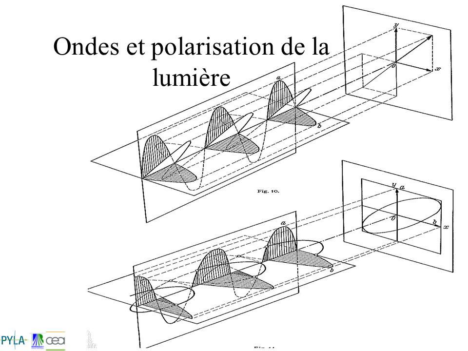 CS 41 Stage Lasers Intenses 2008 Ondes et polarisation de la lumière