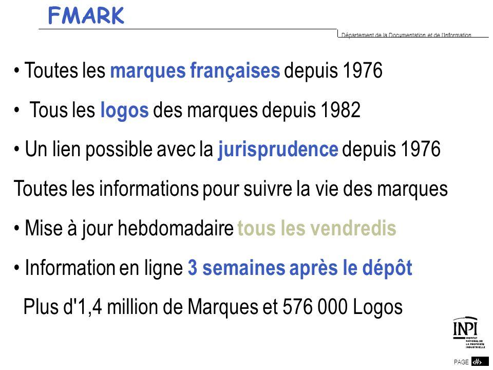 14 PAGE 14 Département de la Documentation et de l'Information Toutes les marques françaises depuis 1976 Tous les logos des marques depuis 1982 Un lie