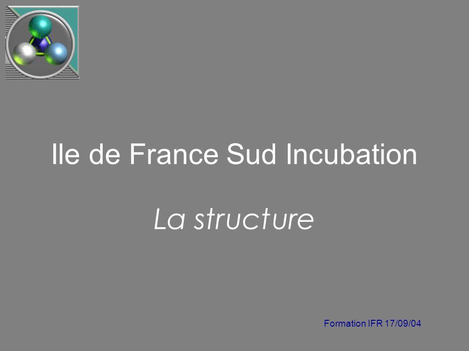 Formation IFR 17/09/04 Ile de France Sud Incubation La structure