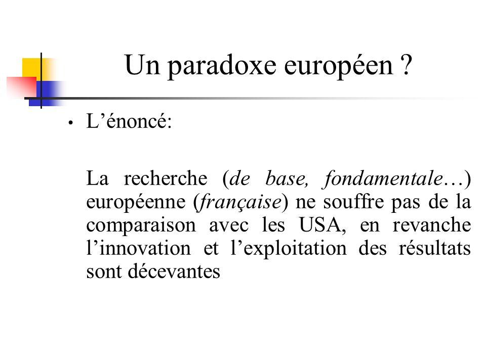 Un paradoxe européen .