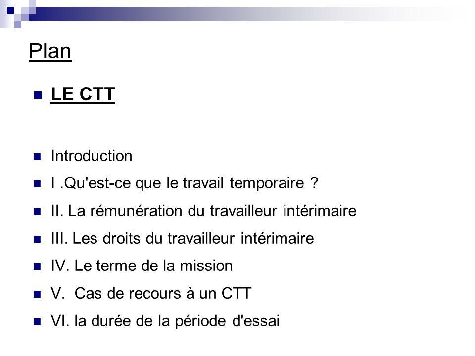 Plan LE CNE Introduction I.Qui est concerné. II. La forme du contrat III.