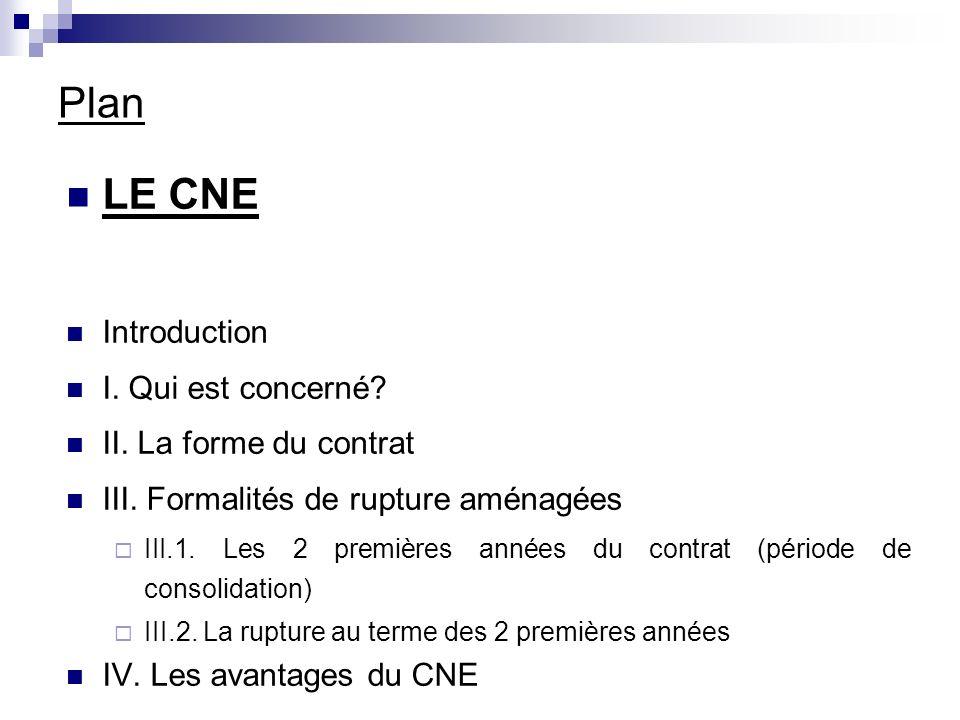 III.Formalités de rupture aménagées III.1.