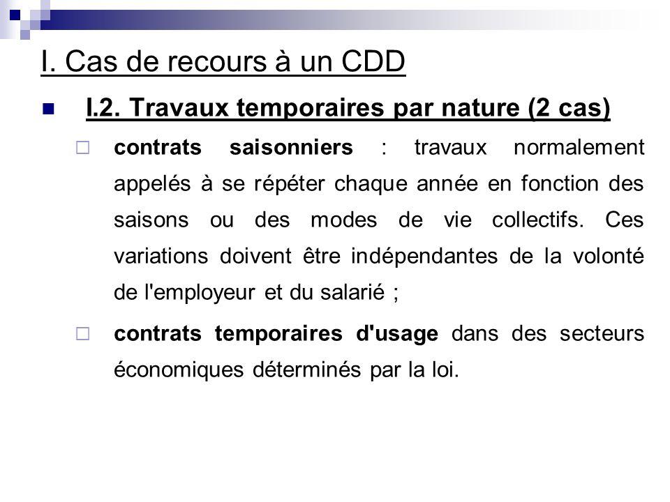 IV.CDD Succéssifs IV. 2.