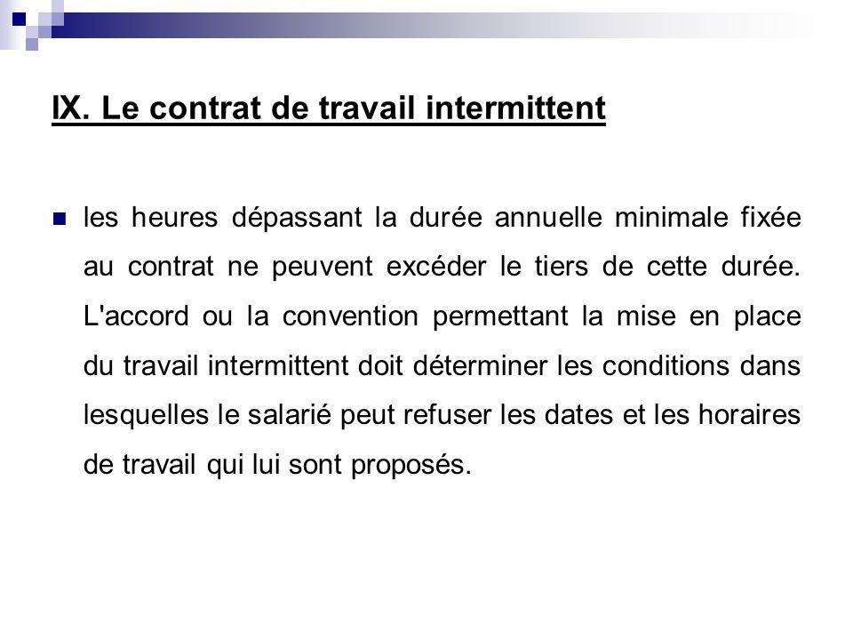 les heures dépassant la durée annuelle minimale fixée au contrat ne peuvent excéder le tiers de cette durée. L'accord ou la convention permettant la m