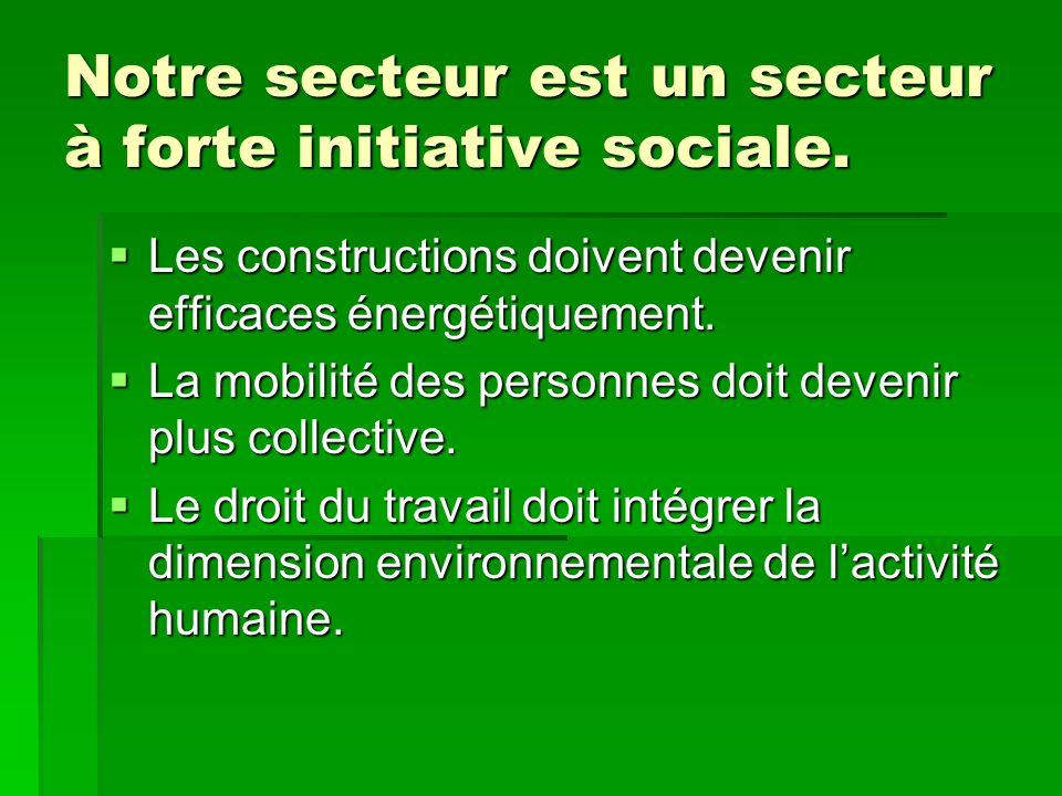 Notre secteur est un secteur à forte initiative sociale.