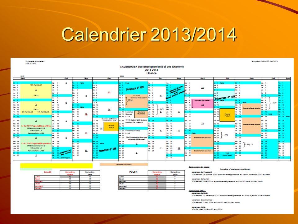 Calendrier 2013/2014