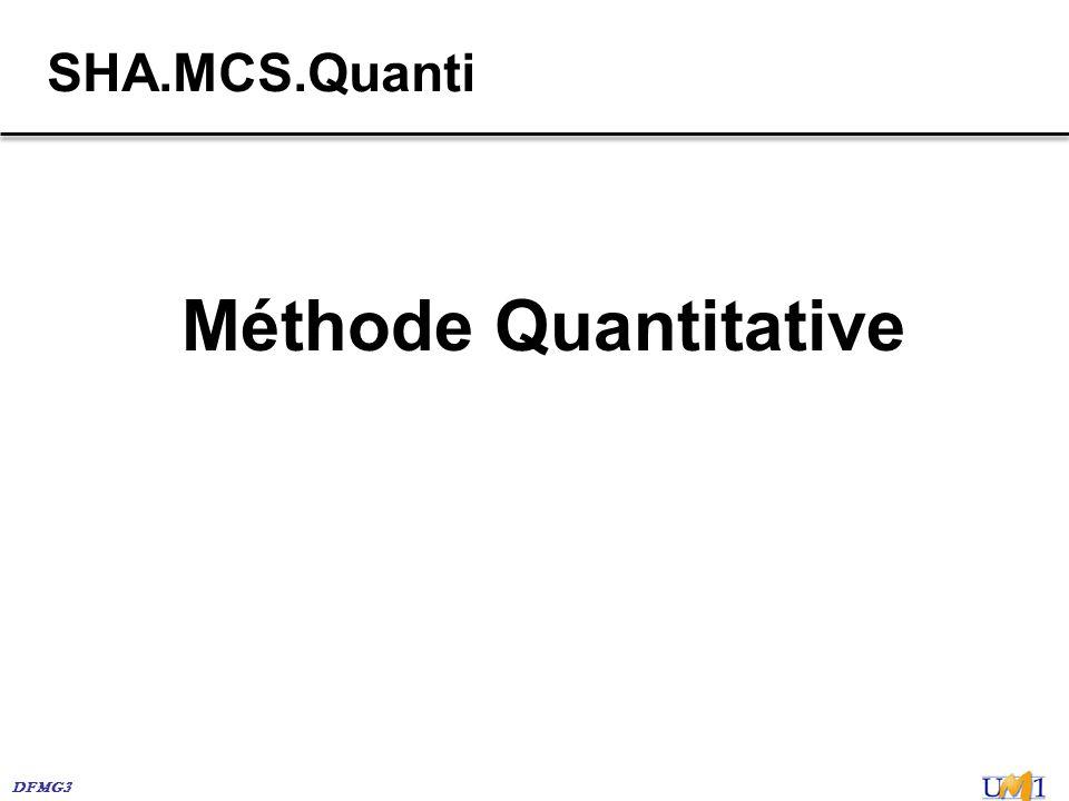 DFMG3 SHA.MCS.Quanti Méthode Quantitative