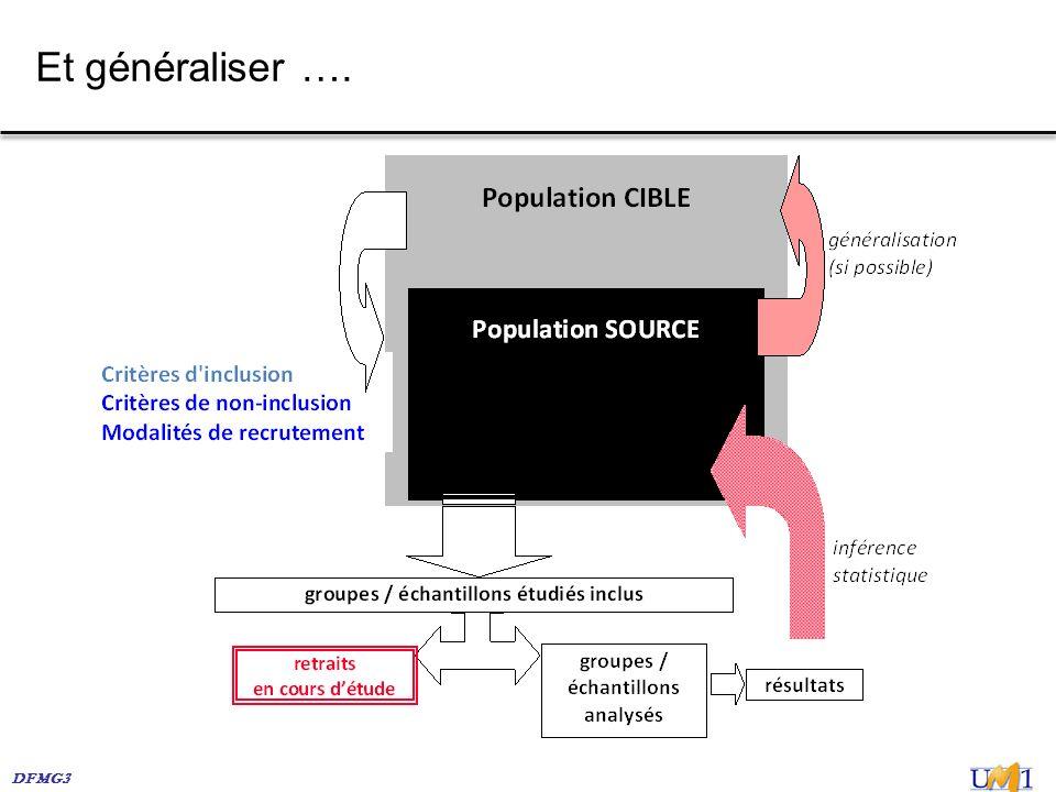 DFMG3 Et généraliser ….