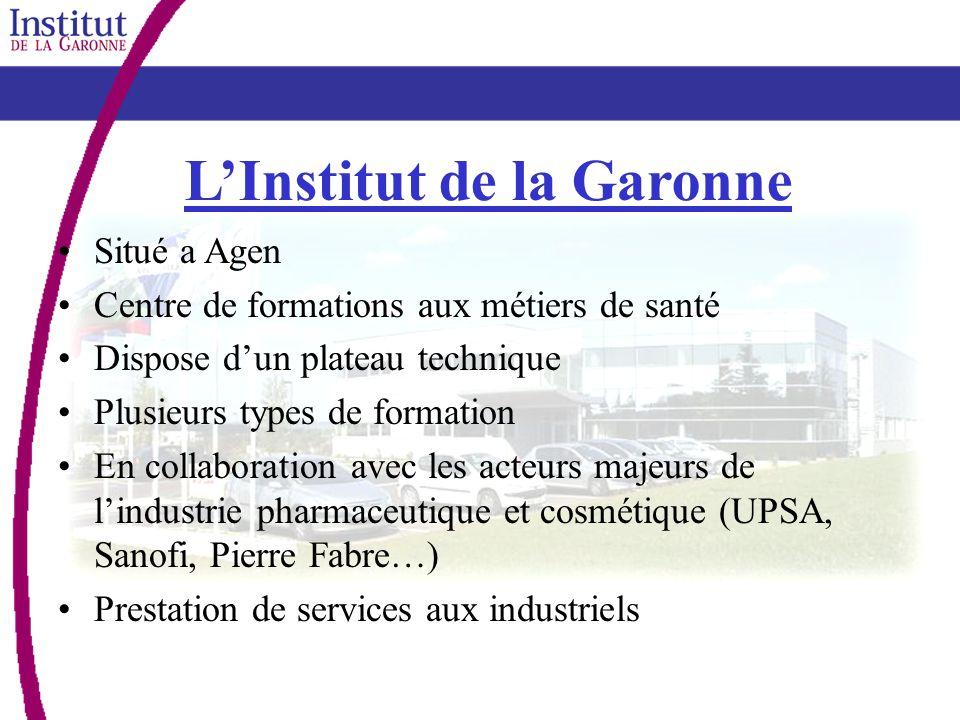 LInstitut de la Garonne Situé a Agen Centre de formations aux métiers de santé Dispose dun plateau technique Plusieurs types de formation En collabora