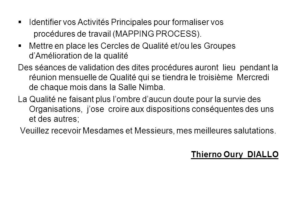 Direction Générale Conakry, le 19 Décembre 2005 N°/ DG /DQP/ SOTELGUI/2005 Le Président du Comité de Pilotage de la Qualité de SOTELGUI A Mesdames & M