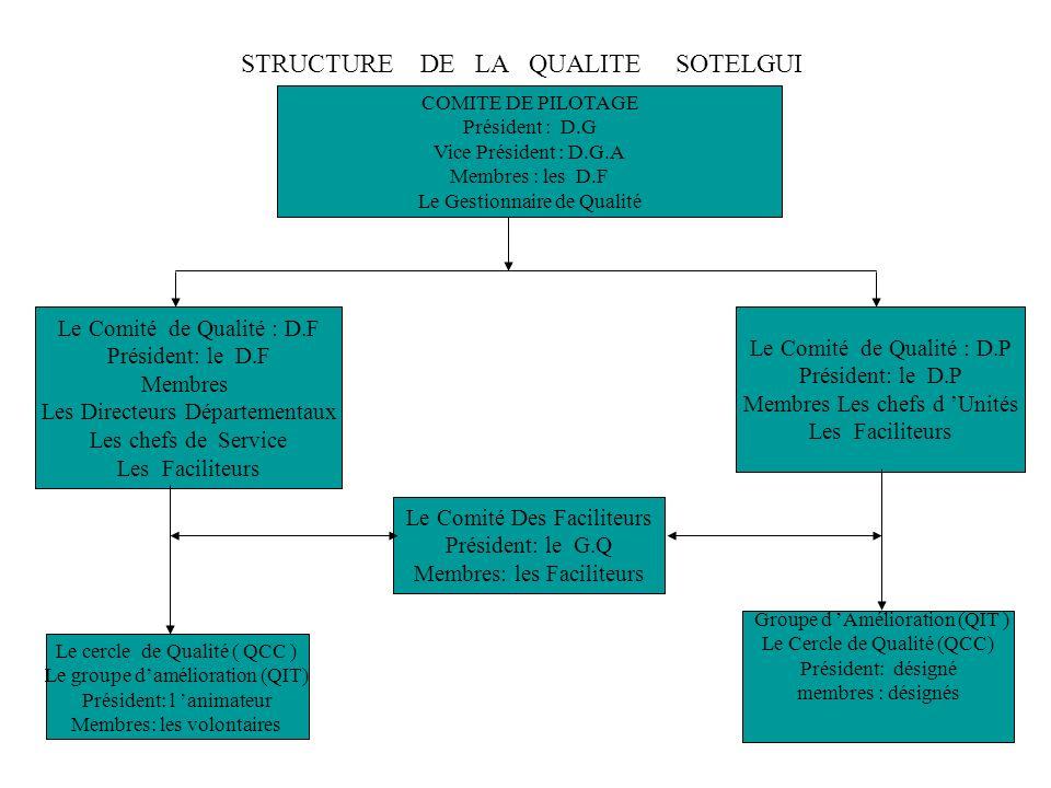 Identifier vos Activités Principales pour formaliser vos procédures de travail (MAPPING PROCESS). Mettre en place les Cercles de Qualité et/ou les Gro