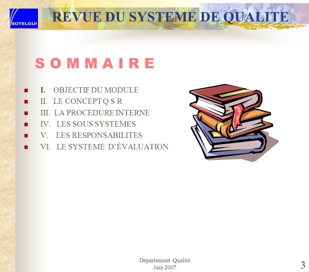 2 LA REVUE DU SYSTEME DE QUALITE Q S R S O T E L G U I S. A Société des Télécommunications de Guinée