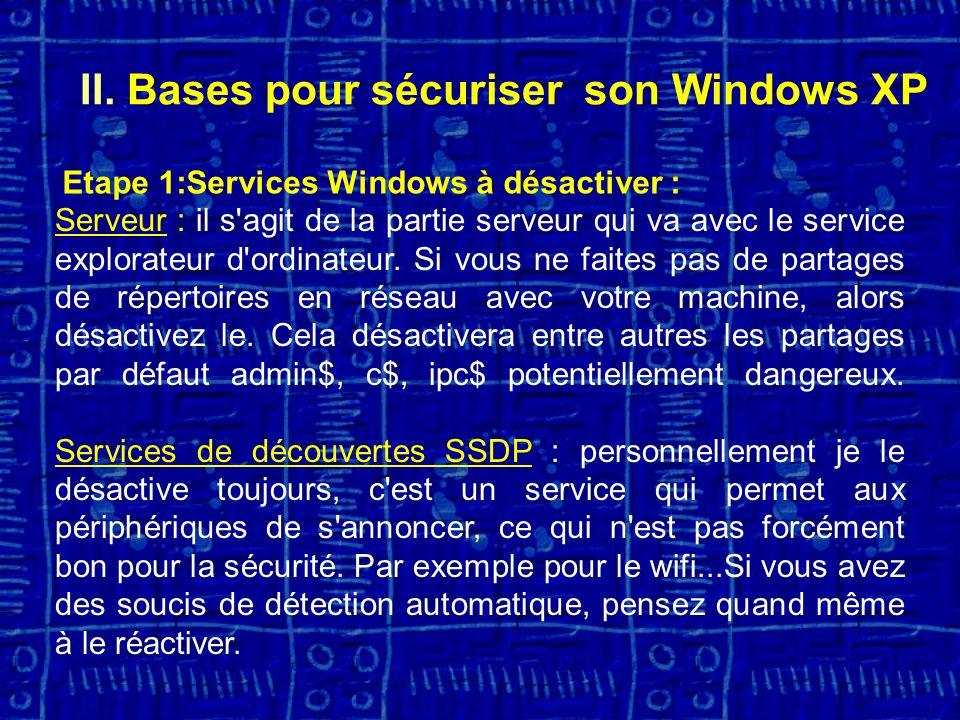 Serveur : il s agit de la partie serveur qui va avec le service explorateur d ordinateur.