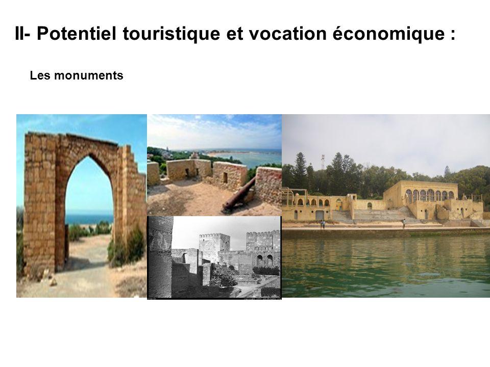 II- Potentiel touristique et vocation économique : Les monuments