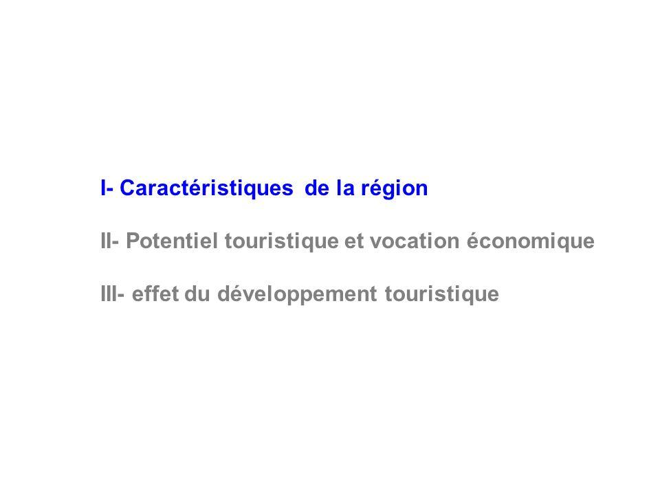 II- Potentiel touristique et vocation économique : Infrastructures