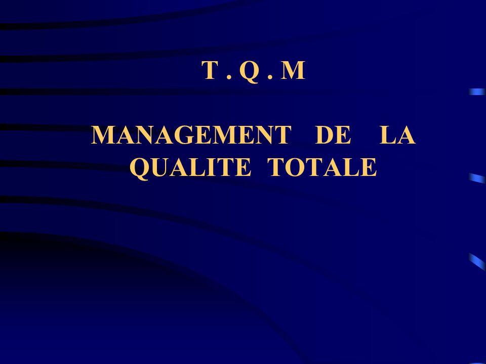 T. Q. M MANAGEMENT DE LA QUALITE TOTALE
