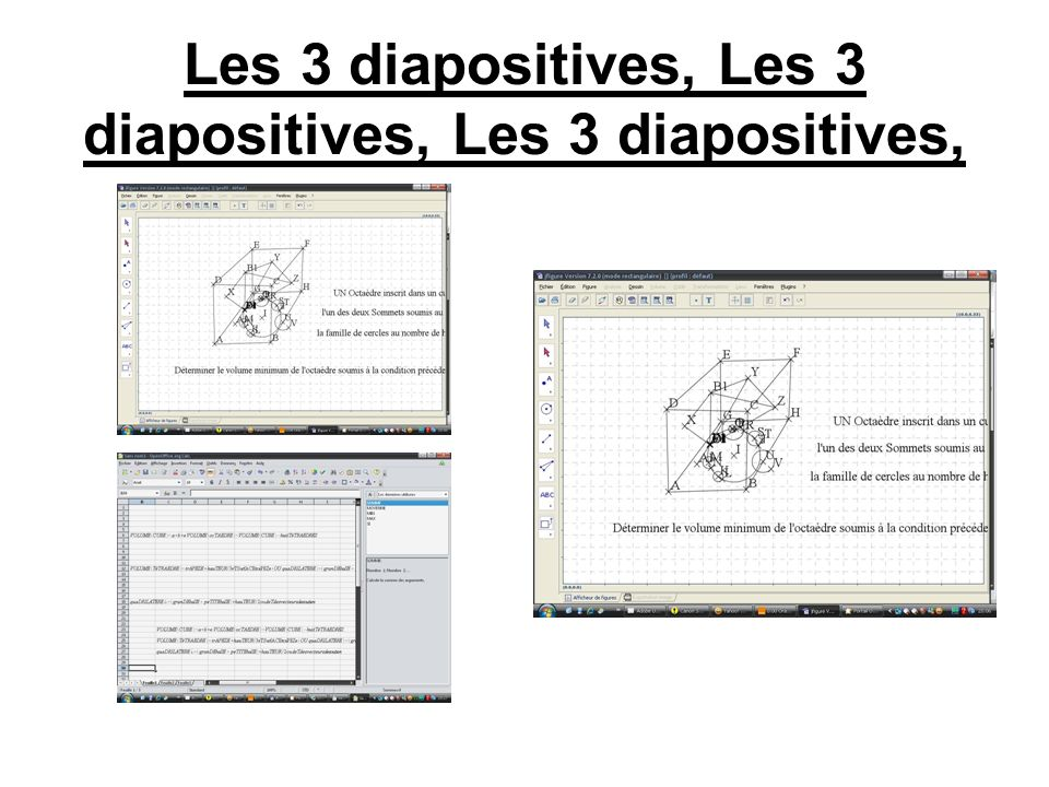 Les 3 diapositives, Les 3 diapositives, Les 3 diapositives,