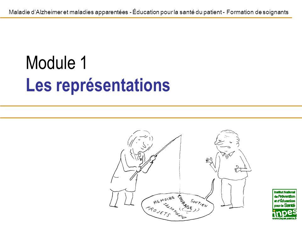 Module 1Les représentations 12 Maladie dAlzheimer et maladies apparentées - Éducation pour la santé du patient - Formation de soignants Comment explorer les représentations en pratique .