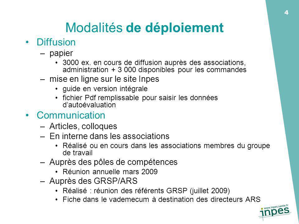 4 Modalités de déploiement Diffusion –papier 3000 ex.