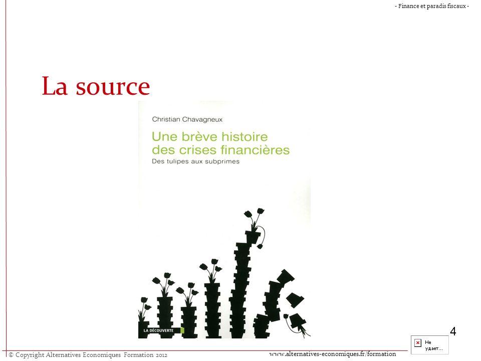 © Copyright Alternatives Economiques Formation 2012 www.alternatives-economiques.fr/formation - Finance et paradis fiscaux - 5 Un schéma des crises