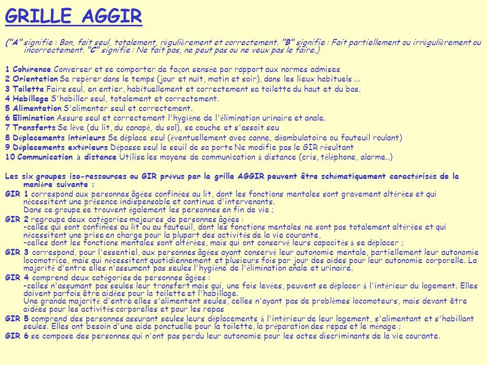 GRILLE AGGIR ( A signifie : Bon, fait seul, totalement, r é guli è rement et correctement.