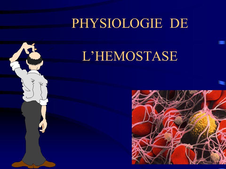 fibrinogènefibrine Thrombine : F IIaProthrombine : F II complexe prothrombinase Xa-Va-Ca-phospholipides voie extrinsèquevoie intrinsèque anti-thrombineProtéine C Protéine S - -