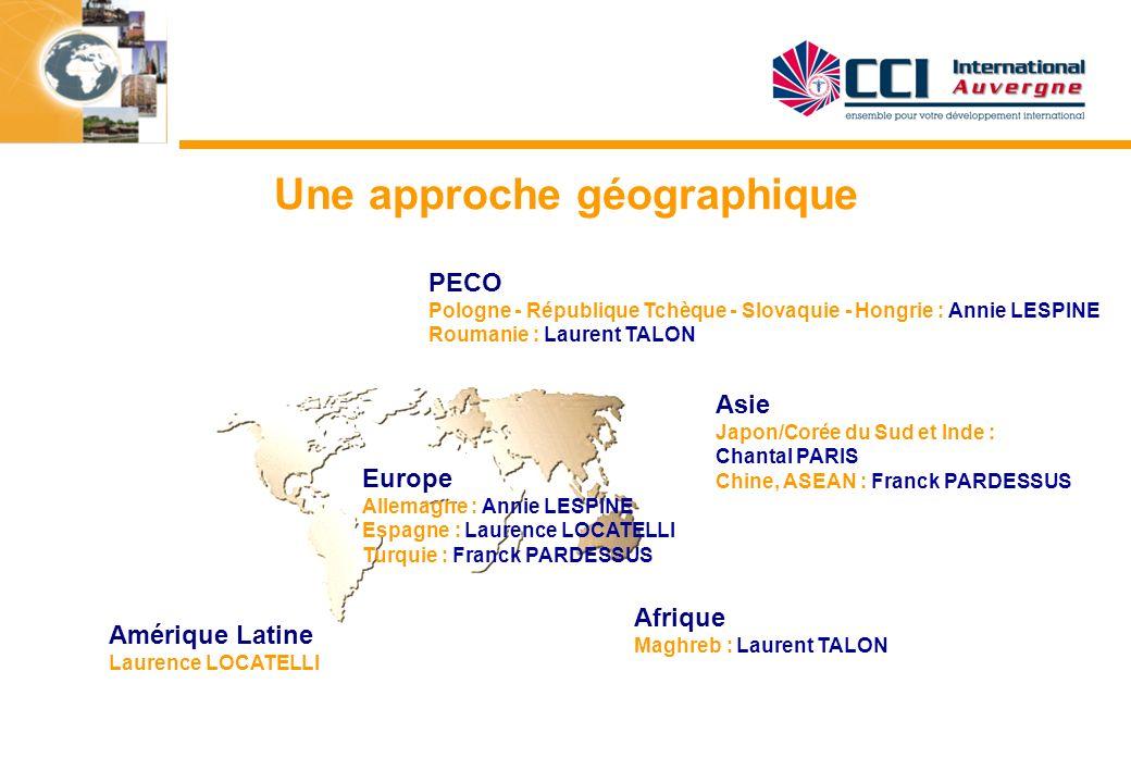 Une approche géographique Amérique Latine Laurence LOCATELLI PECO Pologne - République Tchèque - Slovaquie - Hongrie : Annie LESPINE Roumanie : Lauren