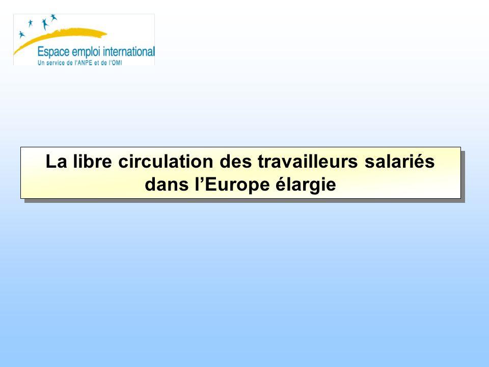 La libre circulation des travailleurs salariés dans lEurope élargie