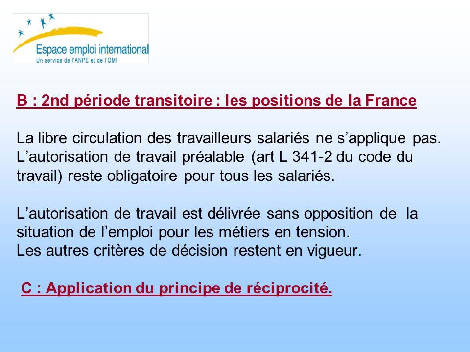 Seconde partie Le régime applicable aux ressortissants des États de lUE soumis à périodes transitoires.