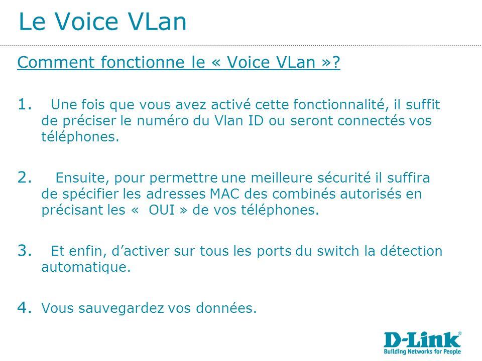 Le Voice VLan Comment fonctionne le « Voice VLan ».