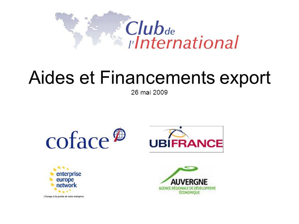Aides et Financements export 26 mai 2009