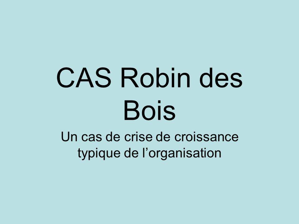 CAS Robin des Bois Un cas de crise de croissance typique de lorganisation