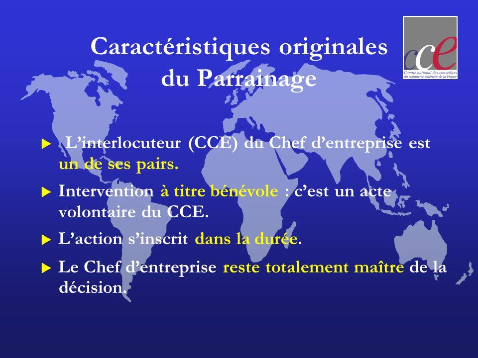 Caractéristiques originales du Parrainage Linterlocuteur (CCE) du Chef dentreprise est un de ses pairs. Intervention à titre bénévole : cest un acte v
