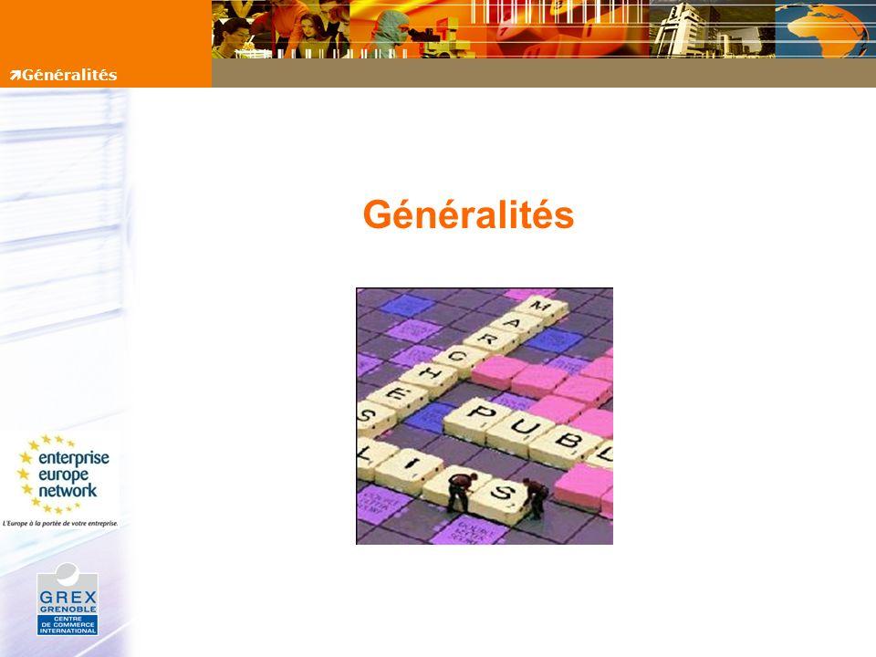 Généralités Généralités