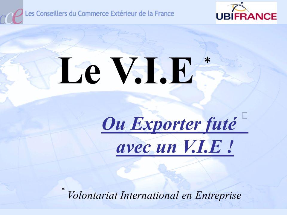 Volontariat International en Entreprise Le V.I.E Ou Exporter futé avec un V.I.E !
