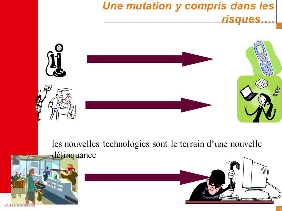 3 Une mutation y compris dans les risques…. les nouvelles technologies sont le terrain dune nouvelle délinquance