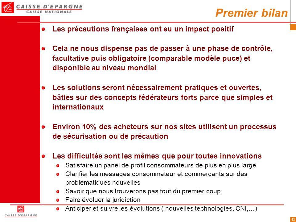33 Les précautions françaises ont eu un impact positif Cela ne nous dispense pas de passer à une phase de contrôle, facultative puis obligatoire (comp