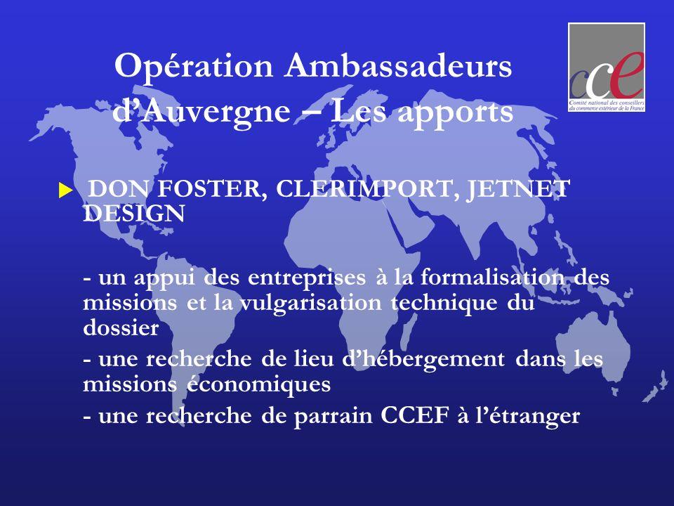 Commission Formation Auvergne Besoins des établissements de formation, carnet des intervenants, ambassadeur dauvergne, VIE Pt.