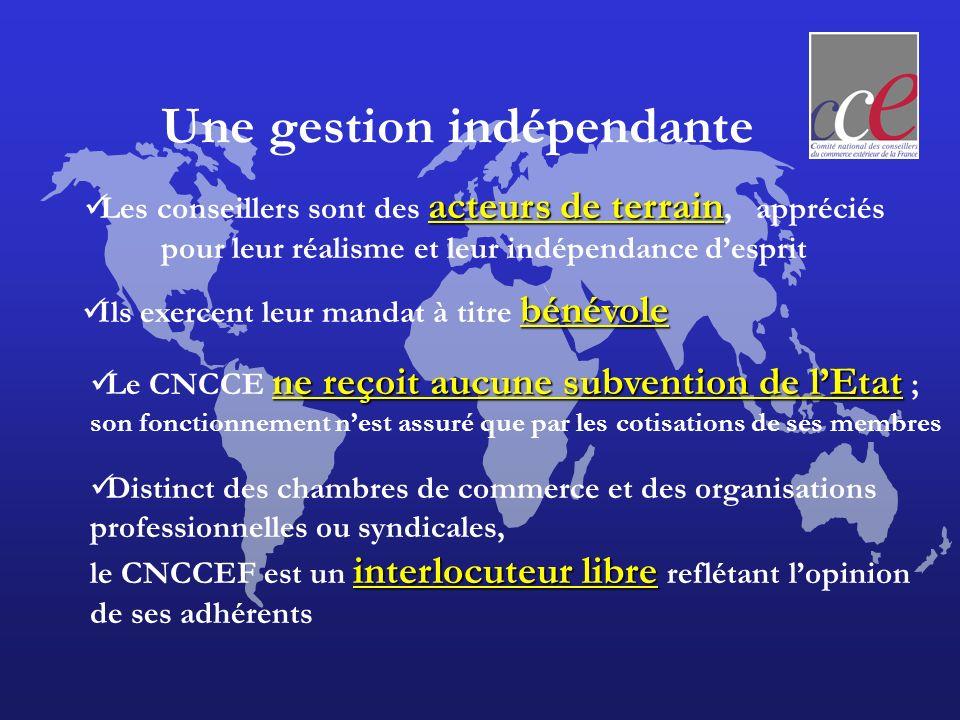 Les partenaires des CCE CNCCEF Missions économiques DGTPE DRCE UbiFrance Ministère du commerce extérieur Medef Minefi Coface Partenariat France Min.