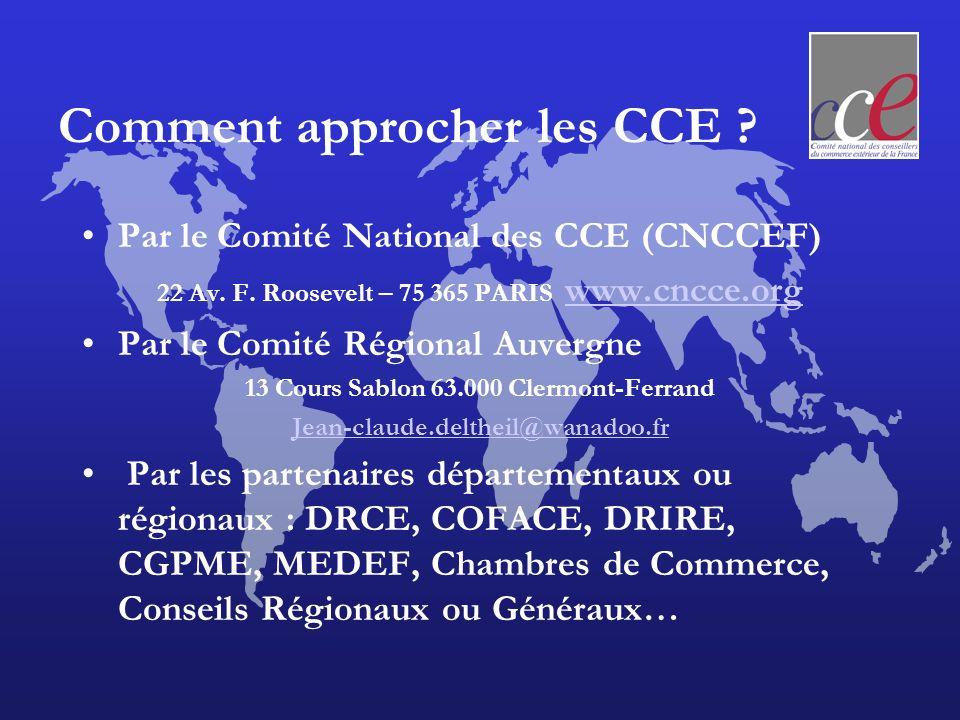Les CCE sur le net www.cnccef.org www.cnccef.org « vitrine » de linstitution (en cours de refonte globale)