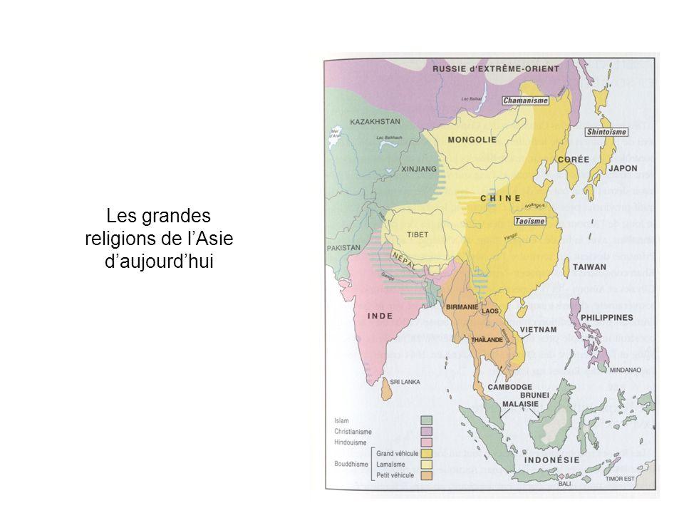 Les grandes religions de lAsie daujourdhui