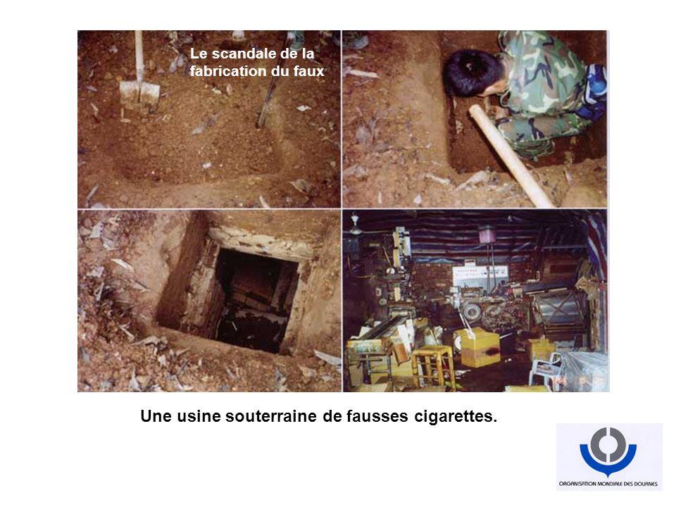Une usine souterraine de fausses cigarettes. Industrialisation du faux Tout est faux Le scandale de la fabrication du faux