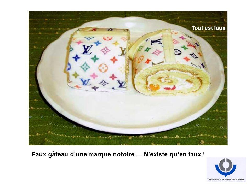 Faux gâteau dune marque notoire … Nexiste quen faux ! Industrialisation du faux Tout est faux