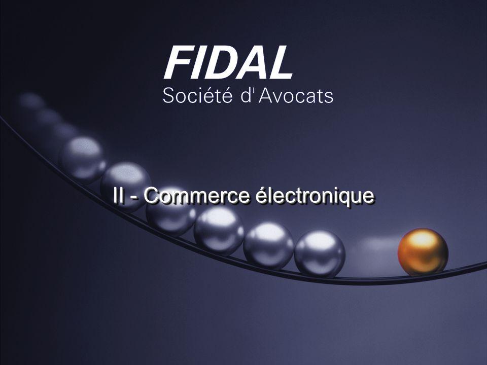II - Commerce électronique